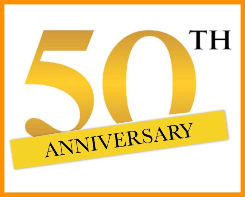 graphic that reads 50th anniversary