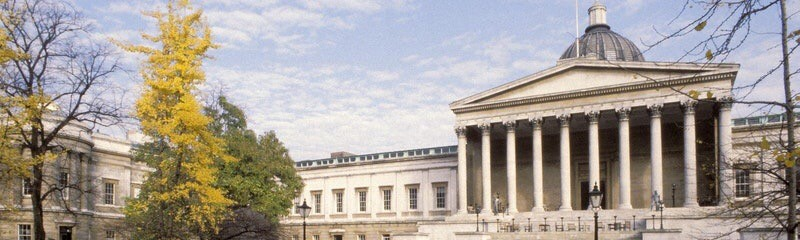 ucl main campus and autumn trees