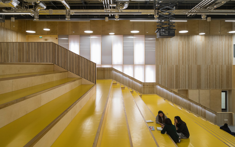 Side view of auditorium at UCL Here East