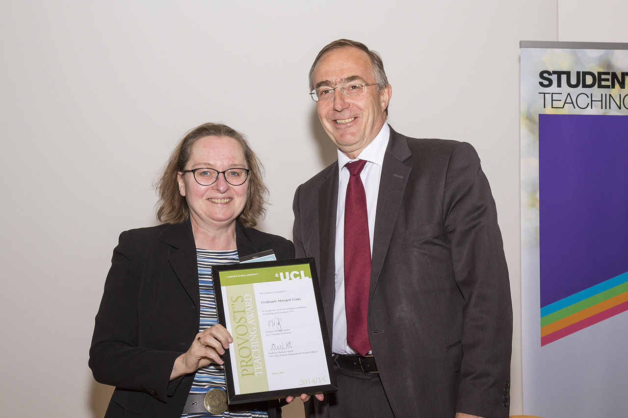Margot Finn receives a Provost's Teaching Award
