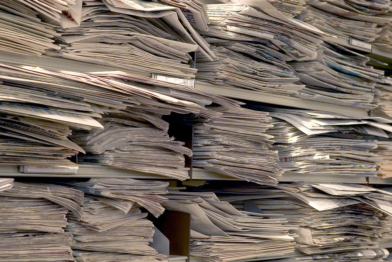 Stack of papers in pigeonholes