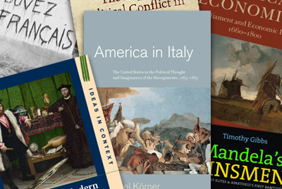Front covers of books recently published by UCL History academics