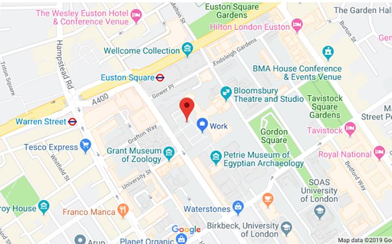 Map - around UCL