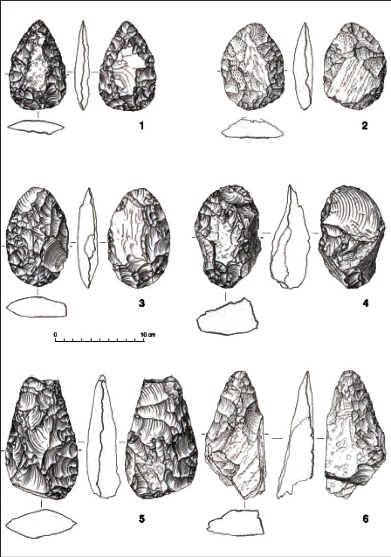 Mount Dendi Acheulean Bifacial Tools
