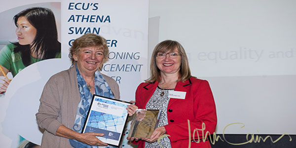 UCL colleagues with their SWAN awards