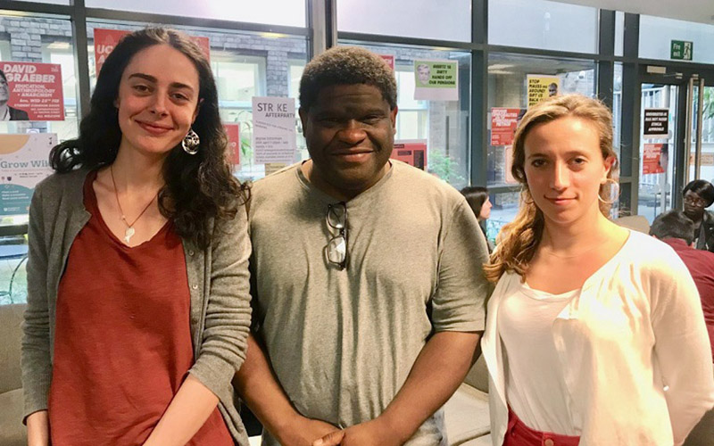 Researcher Led Initiative award winners with Gary Younge