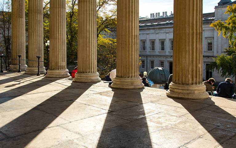 Portico Pillars with shadow