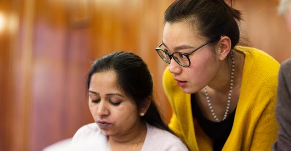 Asian women working
