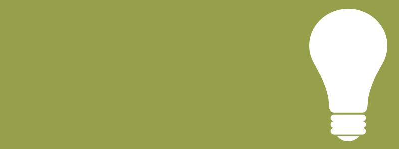 Green tile with light bulb