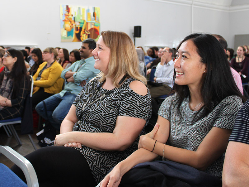 Audience members at the UCL Welcome