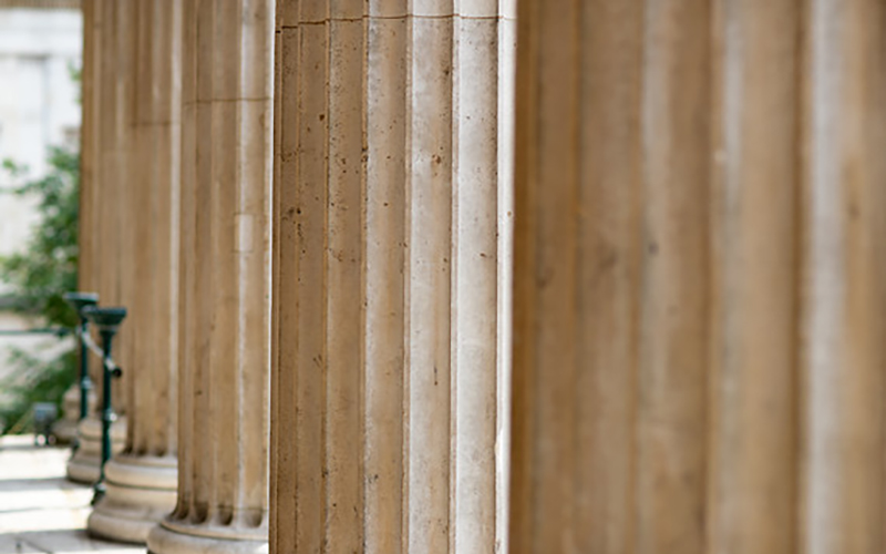 Photograph of the Portico pillars