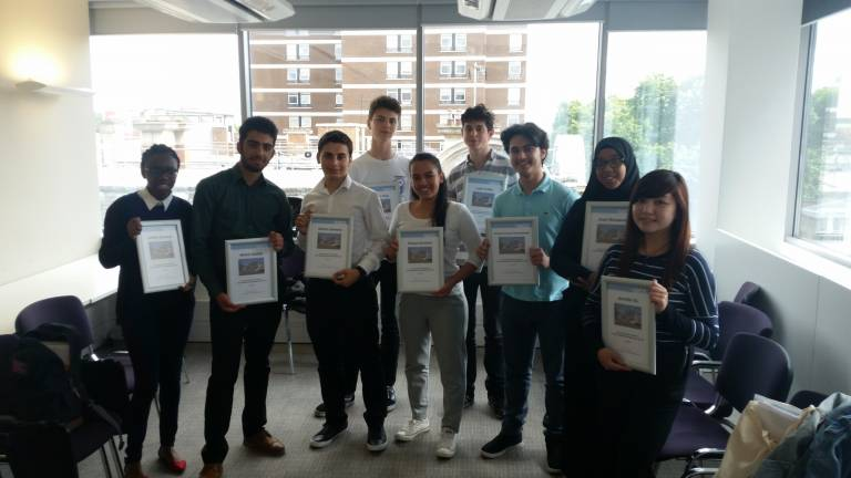 Group photo of work experience students