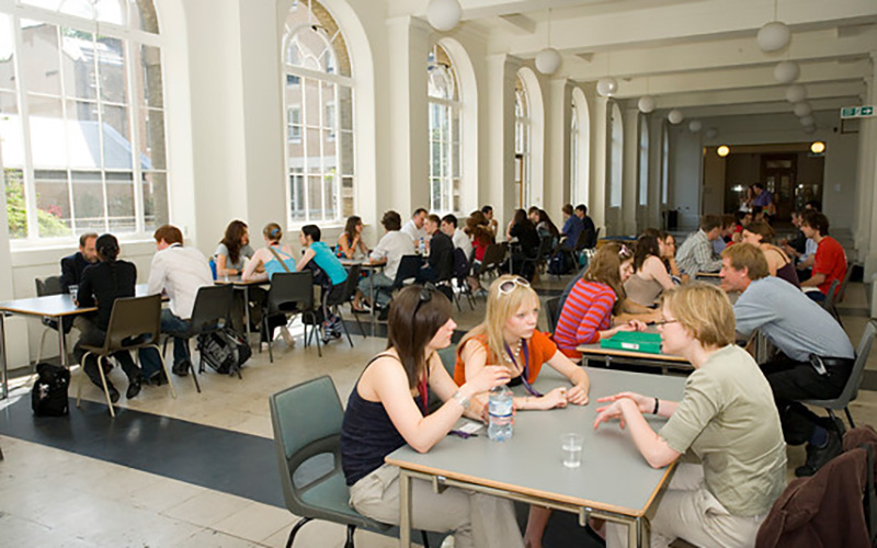 Workshop taking place in the cloisters