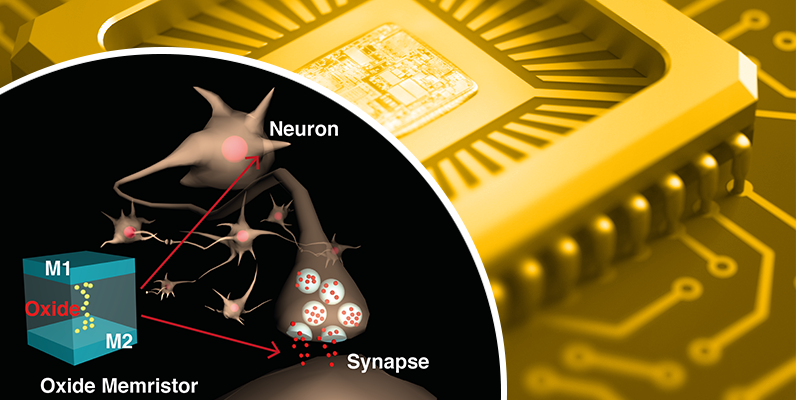 Comparison of Biological neuron next to silicon oxide junction, next to contextual picture of modern electronic processor