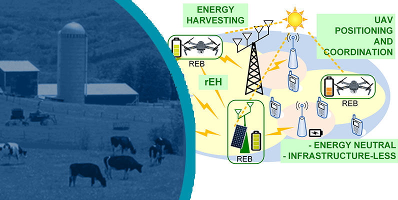 Schematic of network, with rural use case shown