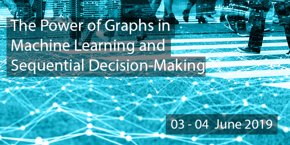 Graph style network superimposed over street scene.