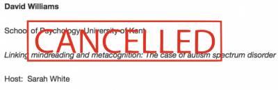 Cancelled Seminar