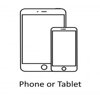Mobile Phone or Tablet