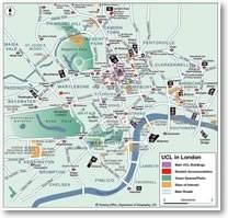 Map: UCL in London
