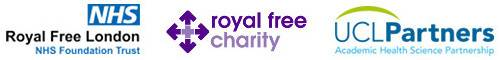 IIT Partner logo's (Royal Free NHS Trust, Royal Free Charity & UCL Partners)