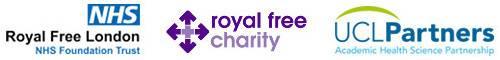 IIT Partner logo's (Royal Free NHS Trust, Royal Free Charity & UCL Partners)