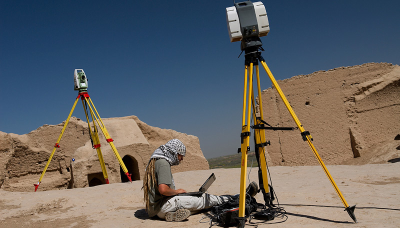 Laser scanning at Merv, Turkmenistan (UCL Ancient Merv Project)