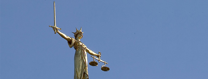 Statue of Justice at Old Bailey