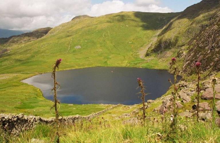 Llyn Llagi in Snowdonia, Wales. One of the flagship sites in the Upland Waters Monitoring Network. Photo Ewan Shilland