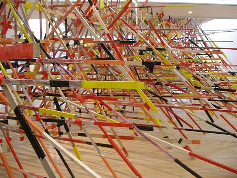 Phyllida Barlow, STINT, Mead Gallery, Warwick 2008 (photo Susan Collins)