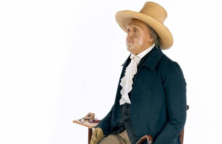 Jeremy Bentham at UCL, courtesy UCL Media Services