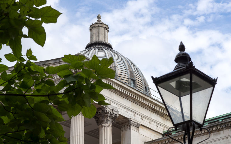 Image shows dome of UCL Main Building