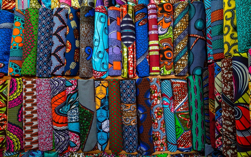 fabric in Adjamé Market, abidjan, credit Eva Blue via Unsplash