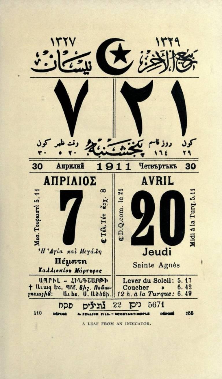 Ottoman calendar