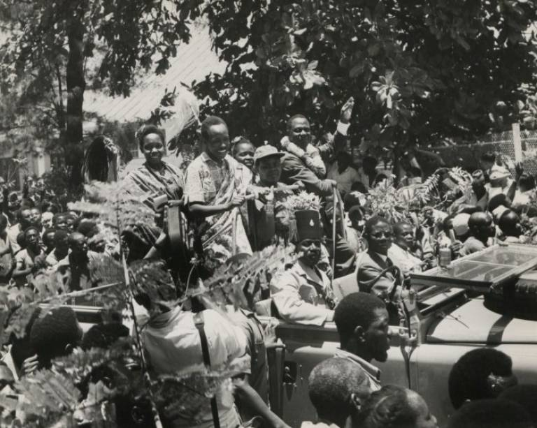 Nyerere in a public procession – The National Archives UK