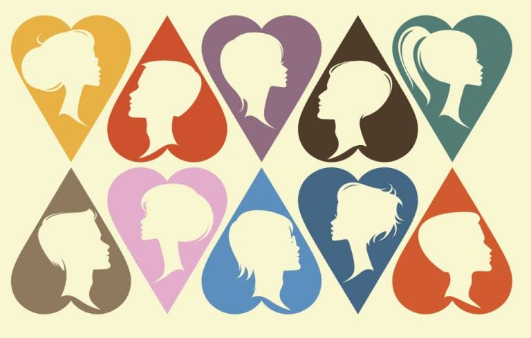 Men and Women in Heart Shapes