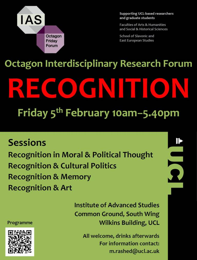 Octagon Friday Forum - Recognition Poster