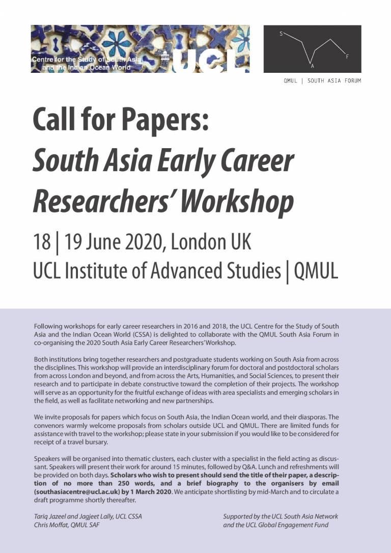 CSSA ECR  workshop 2020 call