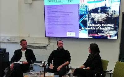 discussants at the Another Artworld launch event, PACT IAS