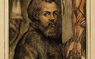 Portrait of Vesalius, img credit Wellcome Trust