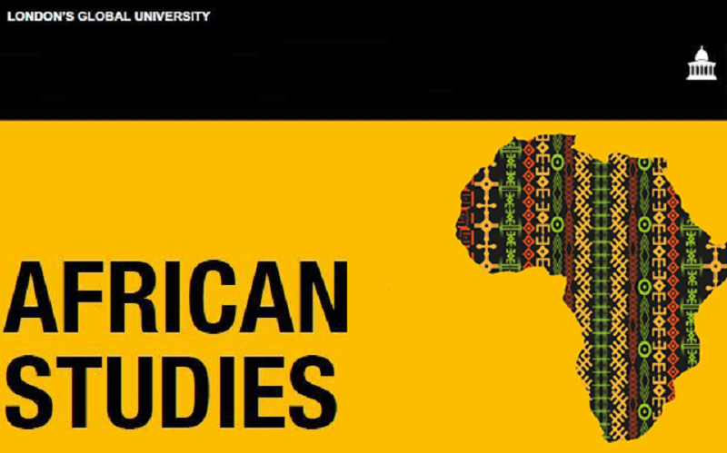 Decorative map of Africa, Africa studies UCL