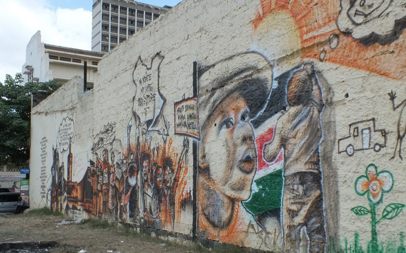 graffiti on a wall in Africa, African studies event
