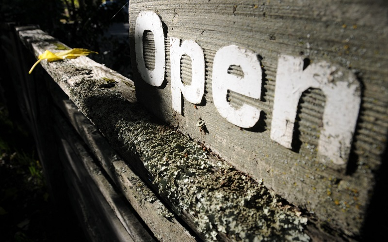 Wooden sign saying 'open', GFRN events image