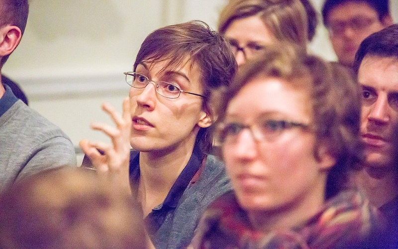 students at a lecture, UCL, gender studies