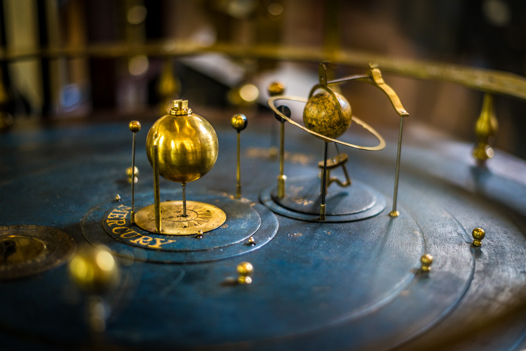 Photo of orrery at British Museum, credit Ian Carroll, Flickr