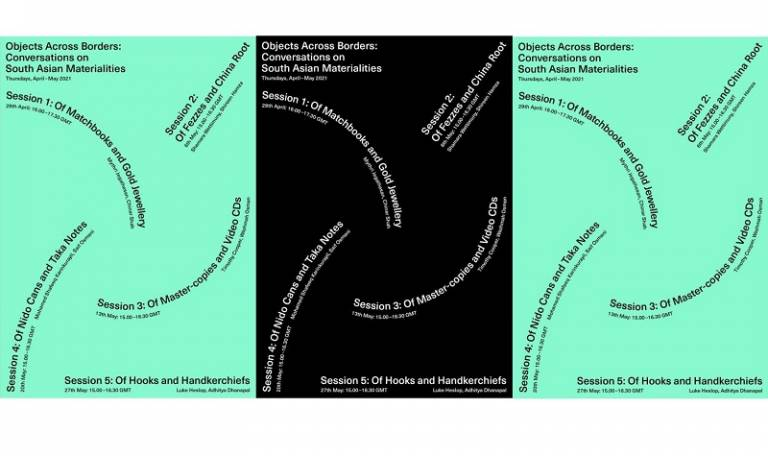 Objects Across Borders seminar series posters