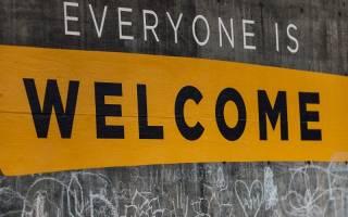 Everyone is welcome sign, credit Katie Moum via Unsplash