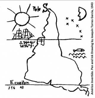 América Invertida, by Joaquin Torres- García.