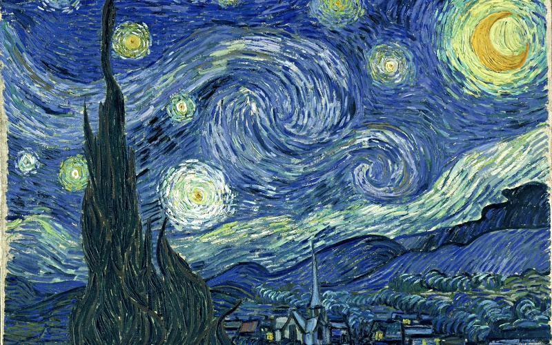 Van Gogh's Starry Night, ucl outer space studies