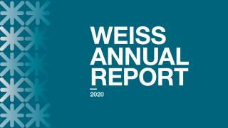 Image with text 'WEISS Annual Report 2020'