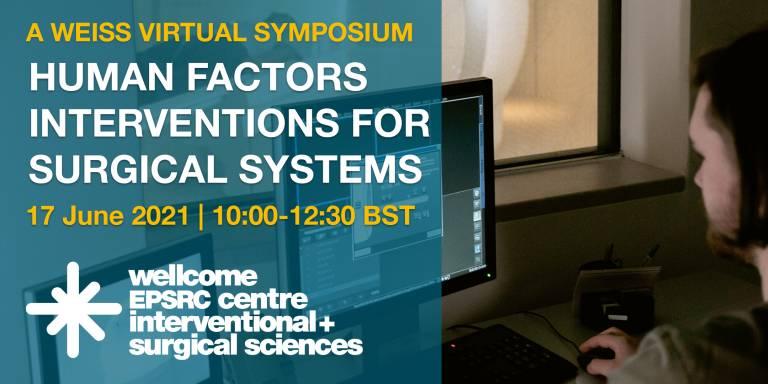 Virtual poster for Human Factors symposium, 17 June 2021, 10:00-12:30 BST